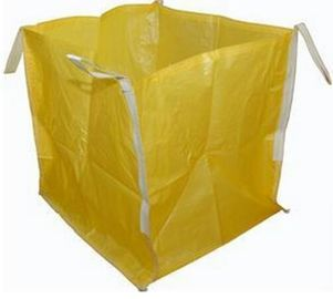 Open Top Yellow Big Bag FIBC UV Treated 2200 LBS For Granular Packaging